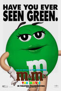 M&M's The Movie (1996) Green Poster