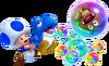 Baby Blue Yoshi and Blue Toad MarioWiiU