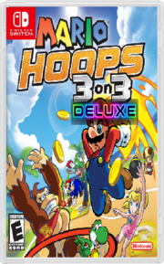 Mario Hoops 3 On 3 Deluxe Switch Box