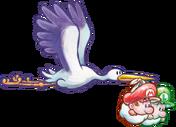 640px-Stork and Babies Artwork - Yoshi's New Island