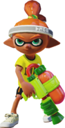 Inkling with a Splattershot - Splatoon