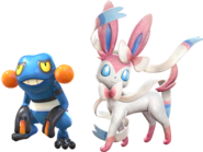 Pokken Croagunk and Sylveon