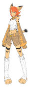 Yami Zu's Meko character concept art