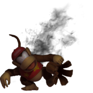 1.9.Diddy Kong being covered in ashes