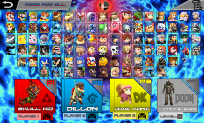 SMASH COMBAT ROSTER (with dlc)