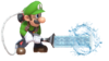 8.Luigi using his Poltergust for Water