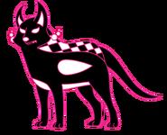 Pink Starlight Wolf