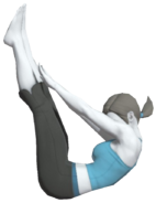 0.17.Female Wii Fit Trainer's Jackknife Pose