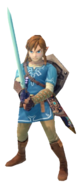 1.2.Champion Link holding the master sword