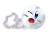 2.Rolling Snowball Kirby