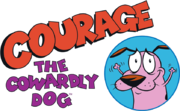 197-1975712 courage-the-cowardly-dog-courage-logo-mens-premium transparent