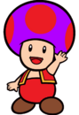 2D Fire Purple Toad