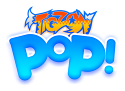 Tigzon Pop! logo design