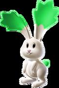 Green Chasing Star Bunny