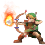 1.8.Young Link preparing a fire Arrow