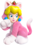 Cat Princess Peach Artwork - Super Mario 3D World