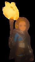 BotW2 Zelda with a Torch