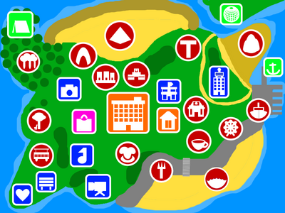 Tomodachi New Life Map