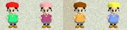 Adeleine palette swaps Kirby 64
