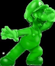 Green aluminum luigi friends