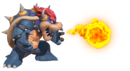 2.3.Blue Bowser spitting fire