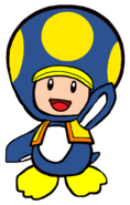2D Penguin Yellow Toad