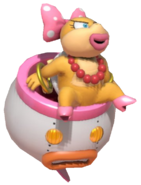 1.5.Wendy O. Koopa sitting on her Clown Car