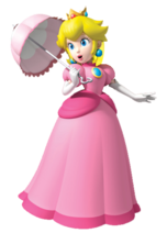 Peach with parasol (Super Mario Bros SS)