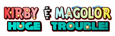 Kirby and magolor logo prototype
