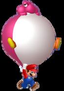 Balloon Yoshi Mario