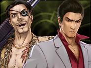 Kiryu and Majima