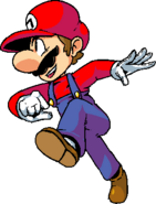 Mario but with seams on his gloves