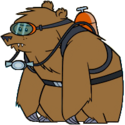 Scuba Bear Transparent