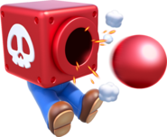 Mario Cannon Head Artwork - Super Mario 3D World