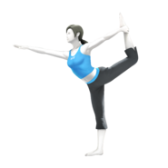 SSB4 Wii Fit Trainer Artwork (shadowless)