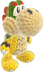 Yoshi's Woolly World design - Baby Bowser Yoshi