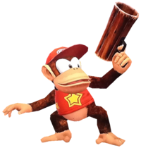 9.SSBC Diddy Kong transparent