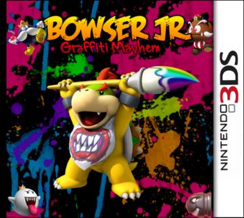 Bowser Jr Graffiti Mayhem Box Art