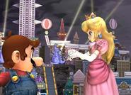 Peach and Mario SSBB