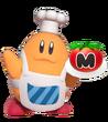 4.9.Chef Kawasaki holding food