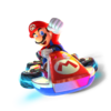 MK8 Deluxe Art - Mario (transparent)