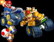 Mario chasing Bowser (+Toad)