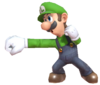 11.Luigi throwing out a punch