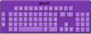 Arlequin Keyboard Purple
