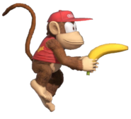 1.4.Diddy Kong preparing his Banana Gun