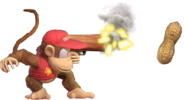 1.7.Diddy Kong shooting a Peanut
