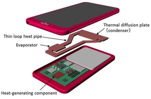Fujitsu smartphone watercooling concept