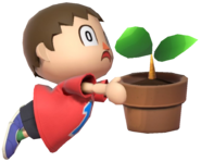 0.18.Red Villager tripping with a Pot