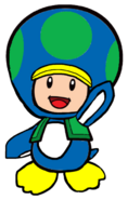 2D Penguin Green Toad