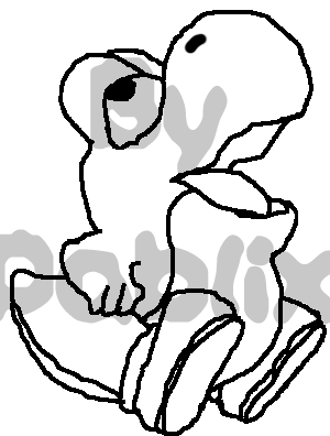 Yoshi Coloring Pages Free To Print 2 Filebeb Para Colorear No Transparentepng